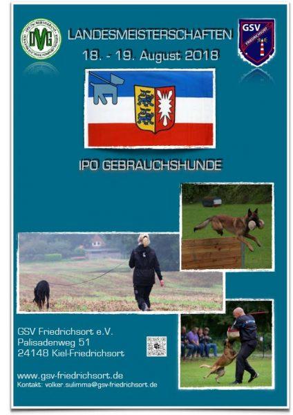 %GSV-Friedrichsort Gebrauchshundmeisterschaft 2018 am 18./19. August,