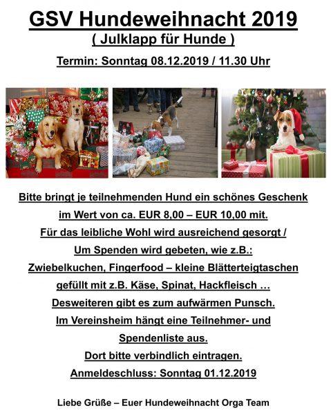 %GSV-Friedrichsort GSV Hundeweihnacht 2019