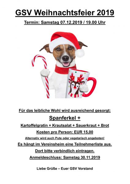 %GSV-Friedrichsort GSV Weihnachtsfeier 2019