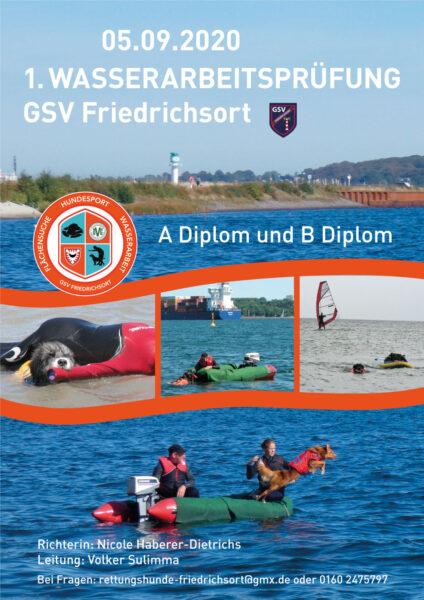 %GSV-Friedrichsort 1. Wasserarbeitsprüfung beim GSV Friedrichsort am 05.09.2020