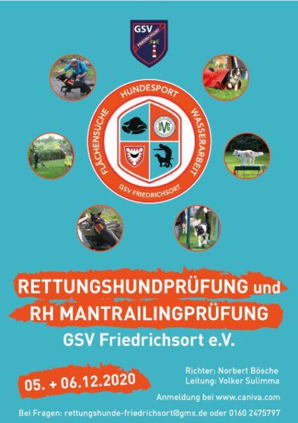 %GSV-Friedrichsort Rettungshundprüfung & RH Mantrailingprüfung, 05. + 06.12.20